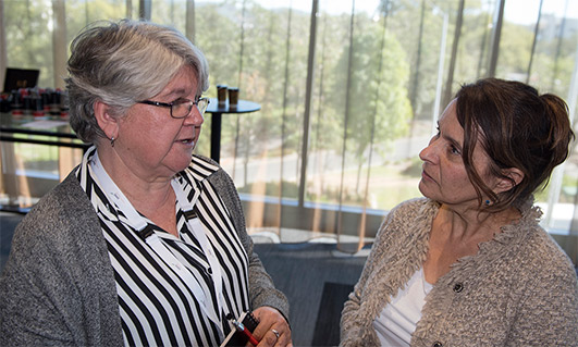 QAIHC's Public Health Physician Sophie Couzos and Wuchopperen Health Service Limited CEO Debra Malthouse