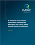 QAIHC Submission: A response to the revised registration standards for Aboriginal and Torres Strait Islander Health Practitioners