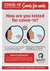 How are you tested for COVID-19? (poster)